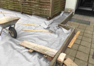 Dachflächenbegrünung Vorarbeit