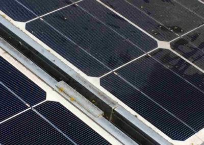Verschmutzte Solarmodule